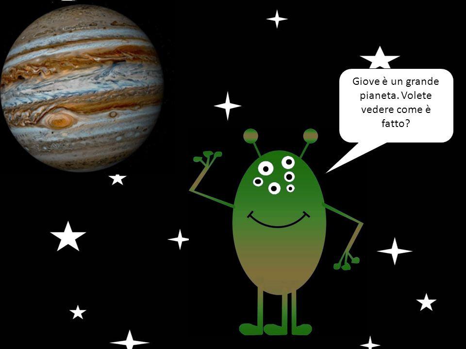 Giove è un grande pianeta. Volete vedere come è fatto