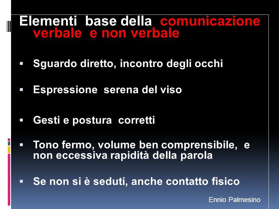 Elementi base della comunicazione verbale e non verbale