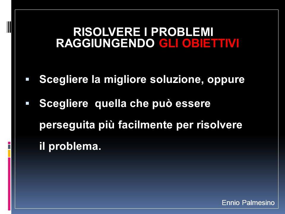 RISOLVERE I PROBLEMI RAGGIUNGENDO GLI OBIETTIVI