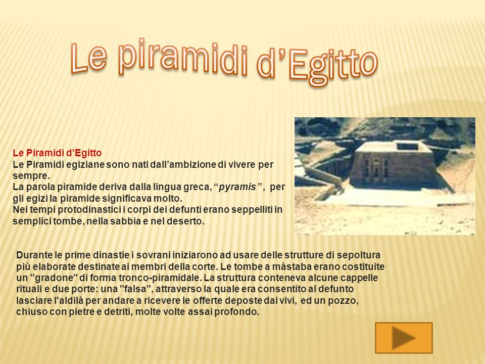Le piramidi d'Egitto Le Piramidi d Egitto
