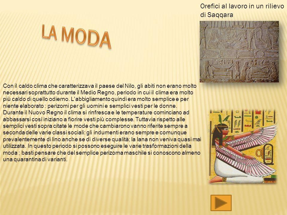 LA MODA Orefici al lavoro in un rilievo di Saqqara