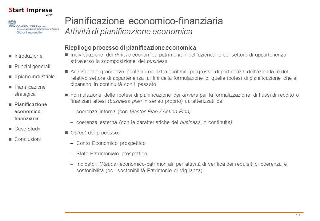 Pianificazione economico-finanziaria Attività di pianificazione economica