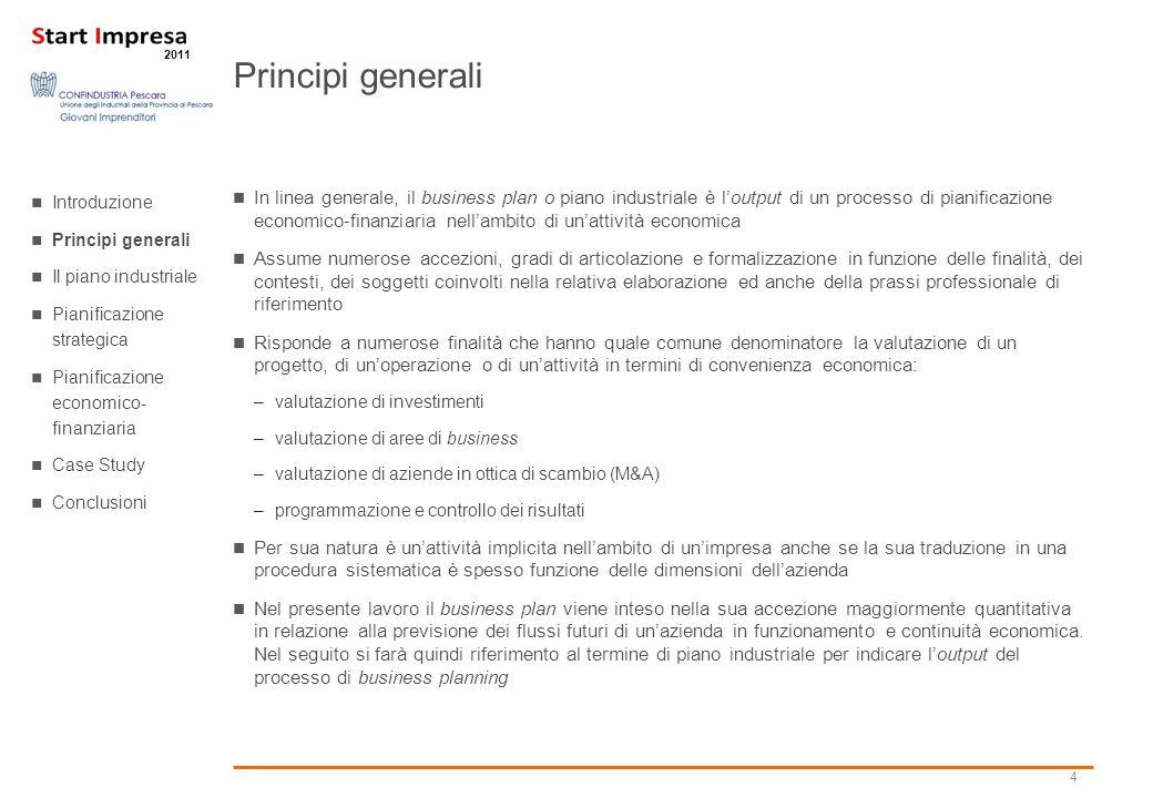 Principi generali Introduzione. Principi generali. Il piano industriale. Pianificazione strategica.