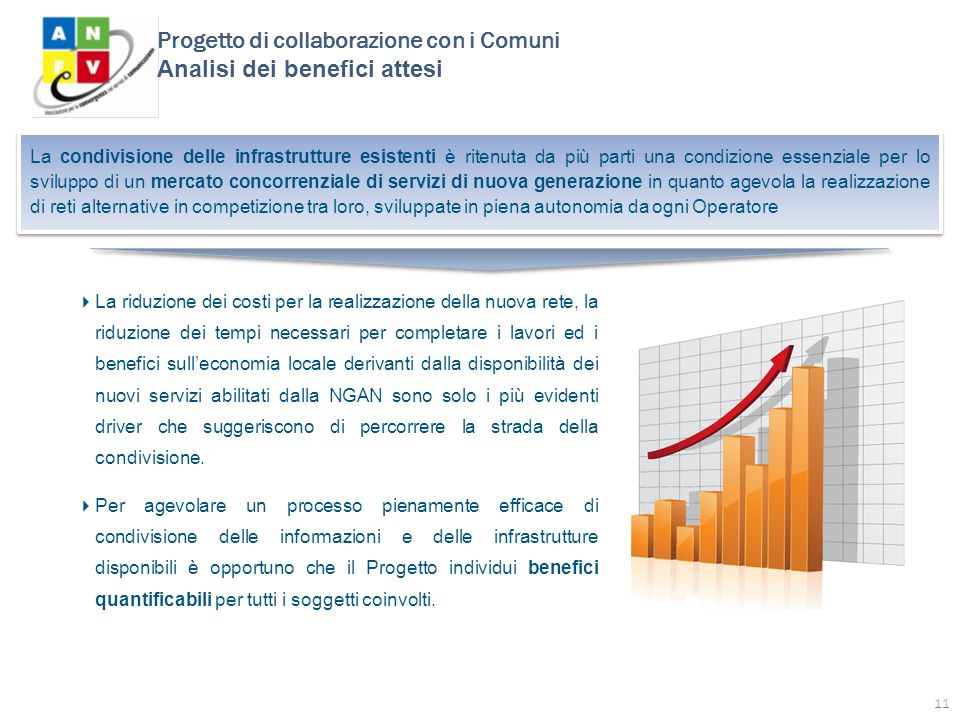 Progetto di collaborazione con i Comuni Analisi dei benefici attesi