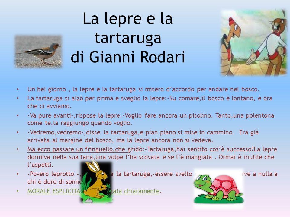 La lepre e la tartaruga di Gianni Rodari