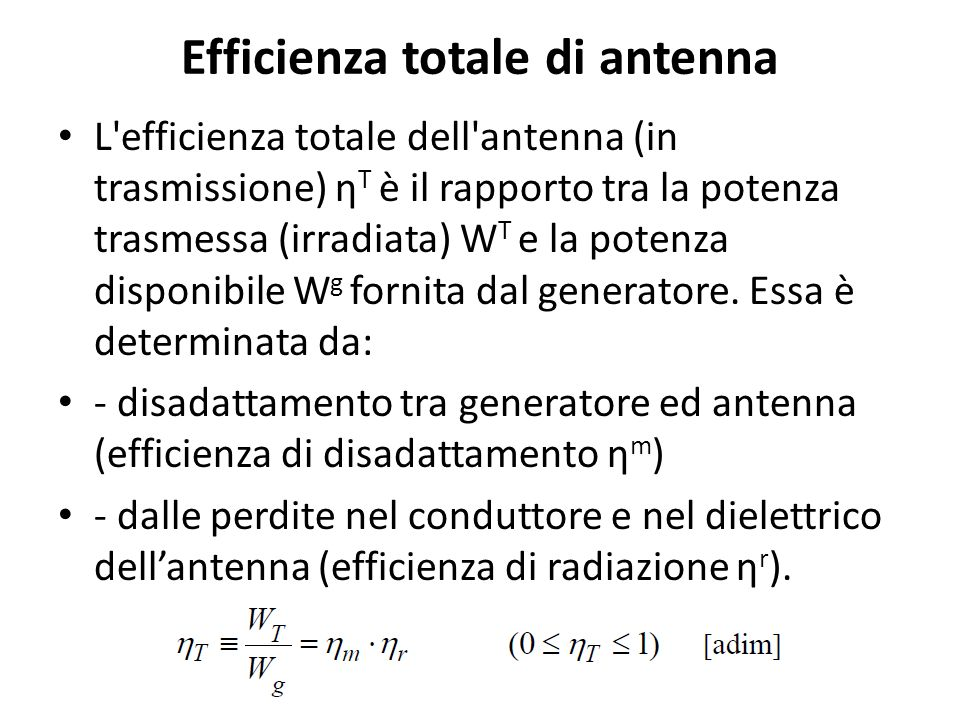 Efficienza totale di antenna