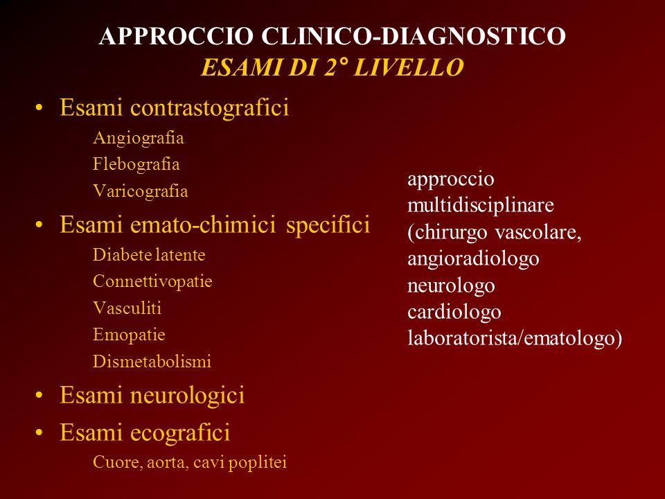 APPROCCIO CLINICO-DIAGNOSTICO ESAMI DI 2° LIVELLO