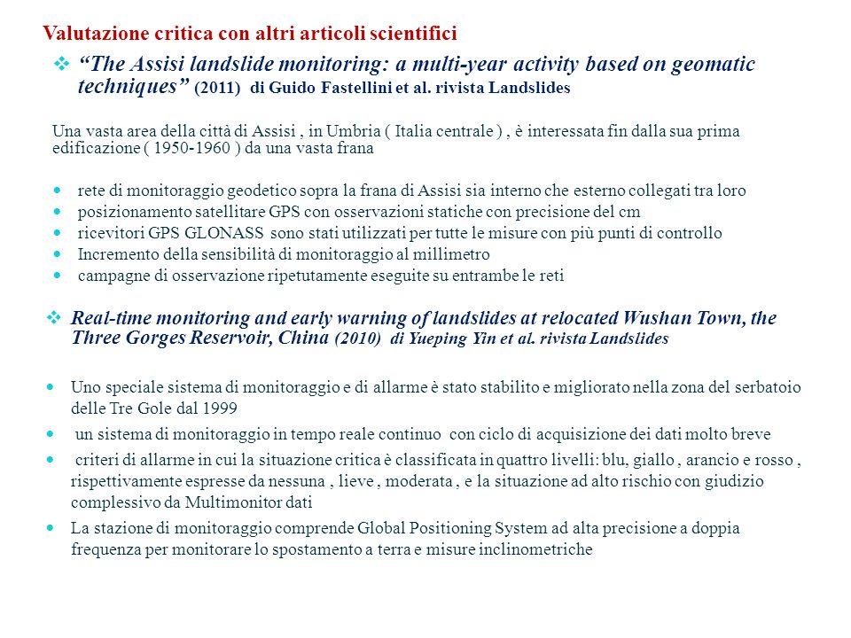 Valutazione critica con altri articoli scientifici