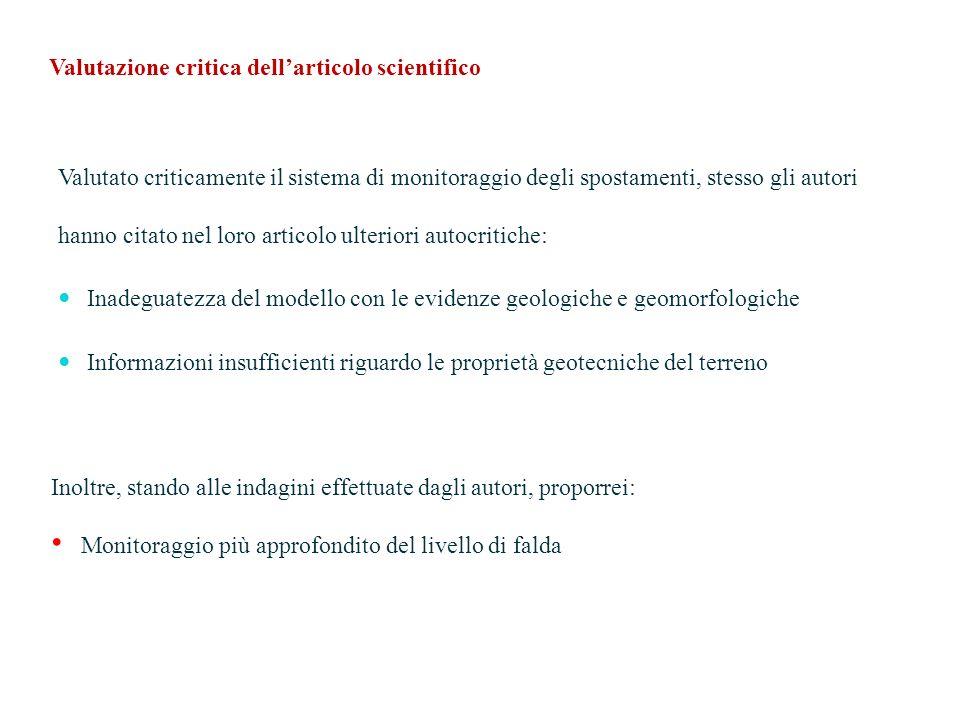Valutazione critica dell'articolo scientifico