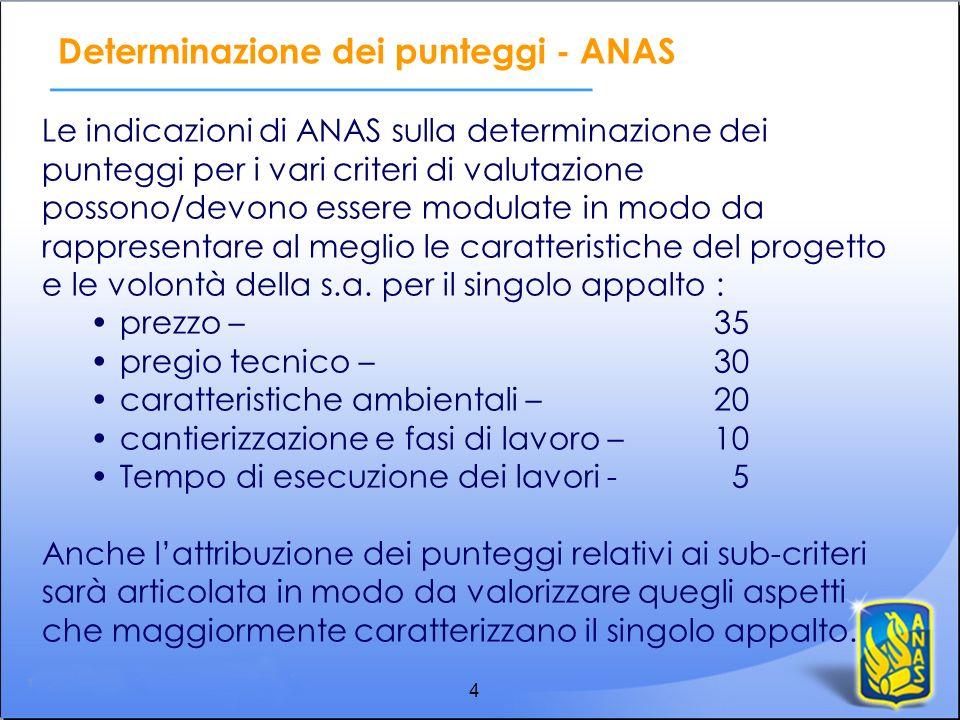 Determinazione dei punteggi - ANAS