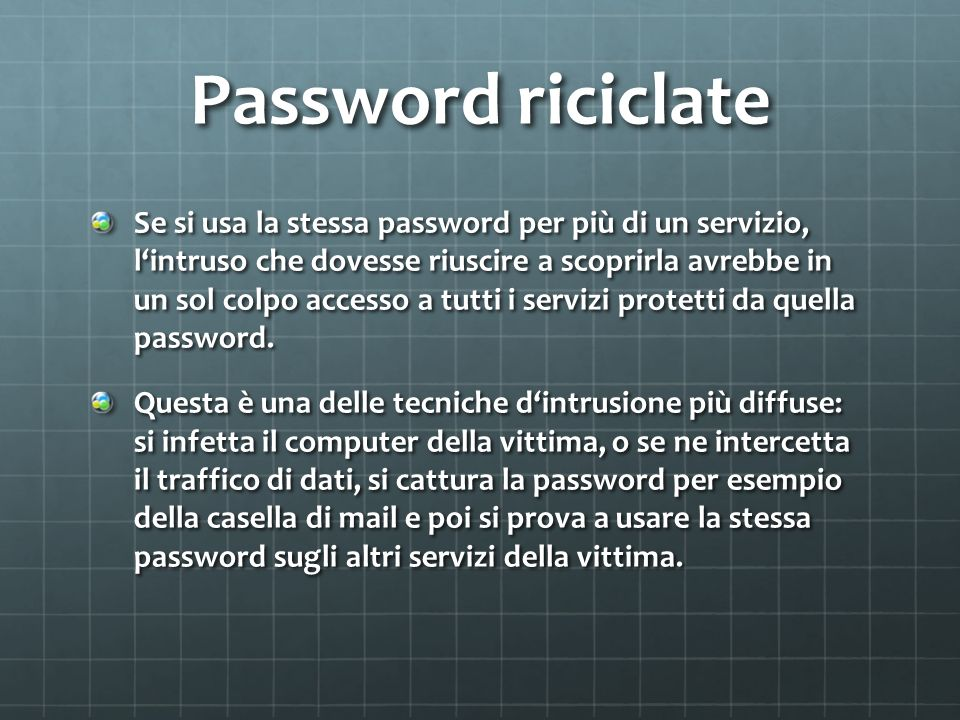 Password riciclate