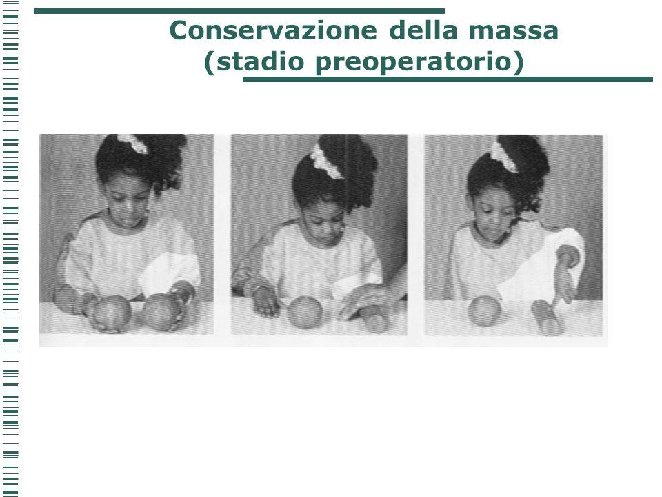 Conservazione della massa (stadio preoperatorio)