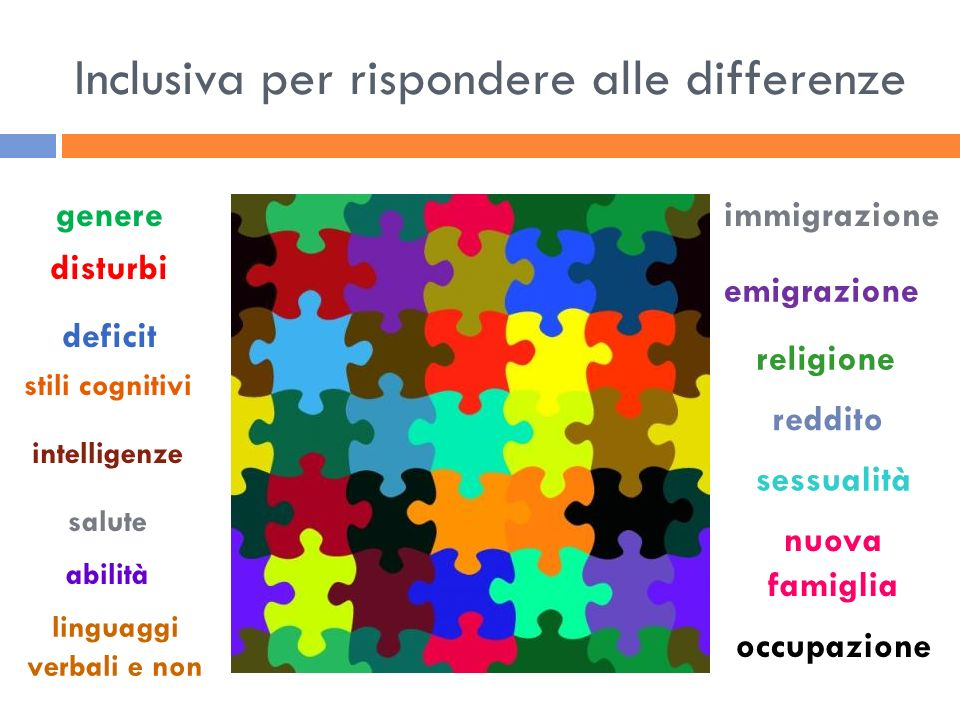 Inclusiva per rispondere alle differenze