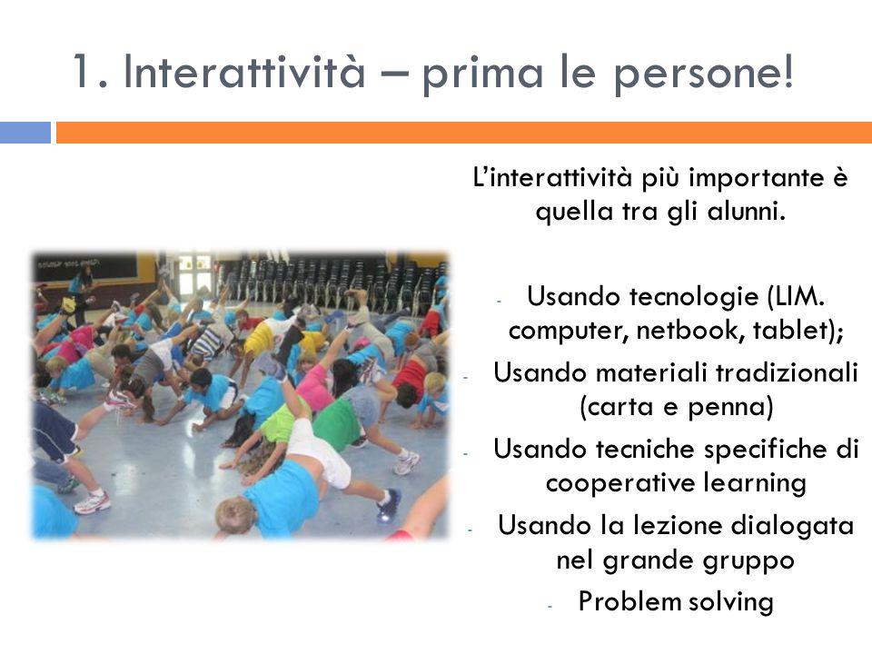 1. Interattività – prima le persone!