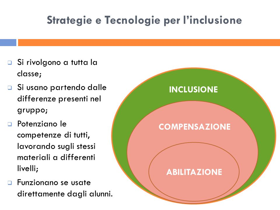 Strategie e Tecnologie per l'inclusione