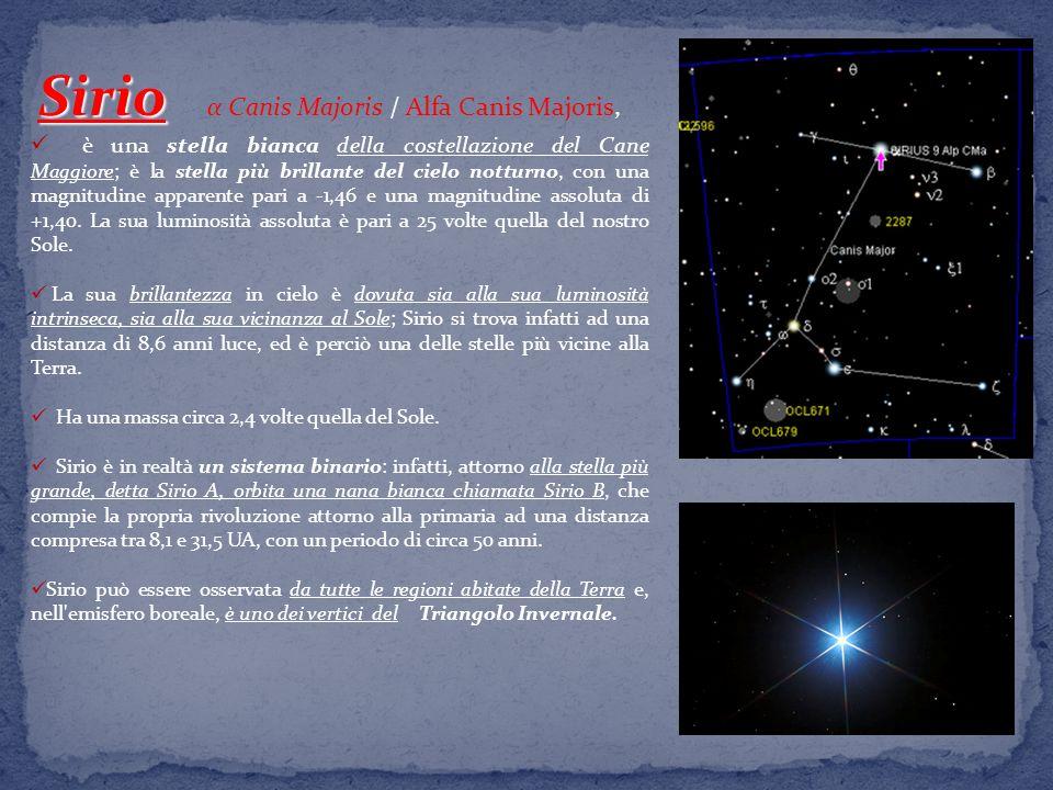 Sirio α Canis Majoris / Alfa Canis Majoris,