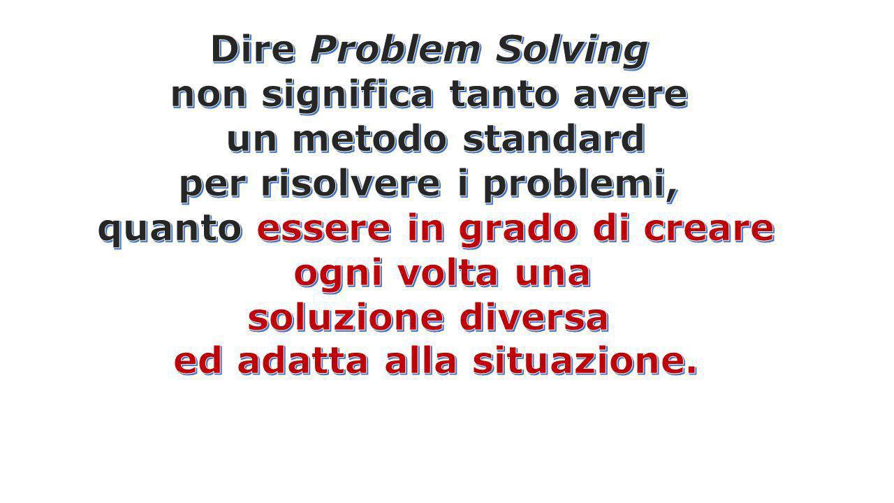 non significa tanto avere un metodo standard per risolvere i problemi,