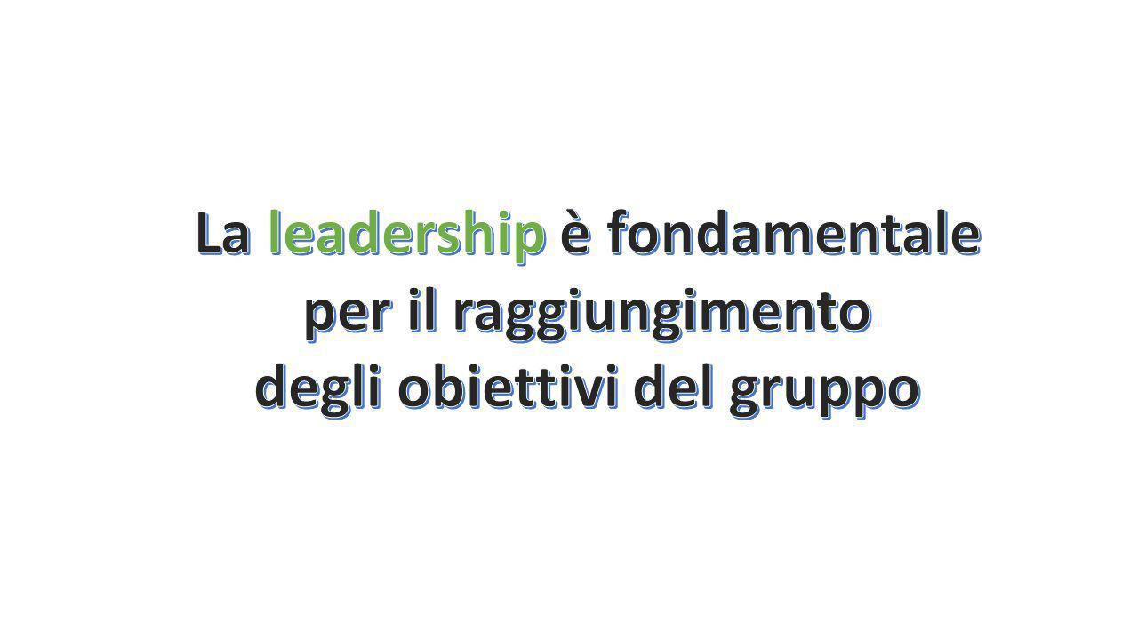 La leadership è fondamentale degli obiettivi del gruppo