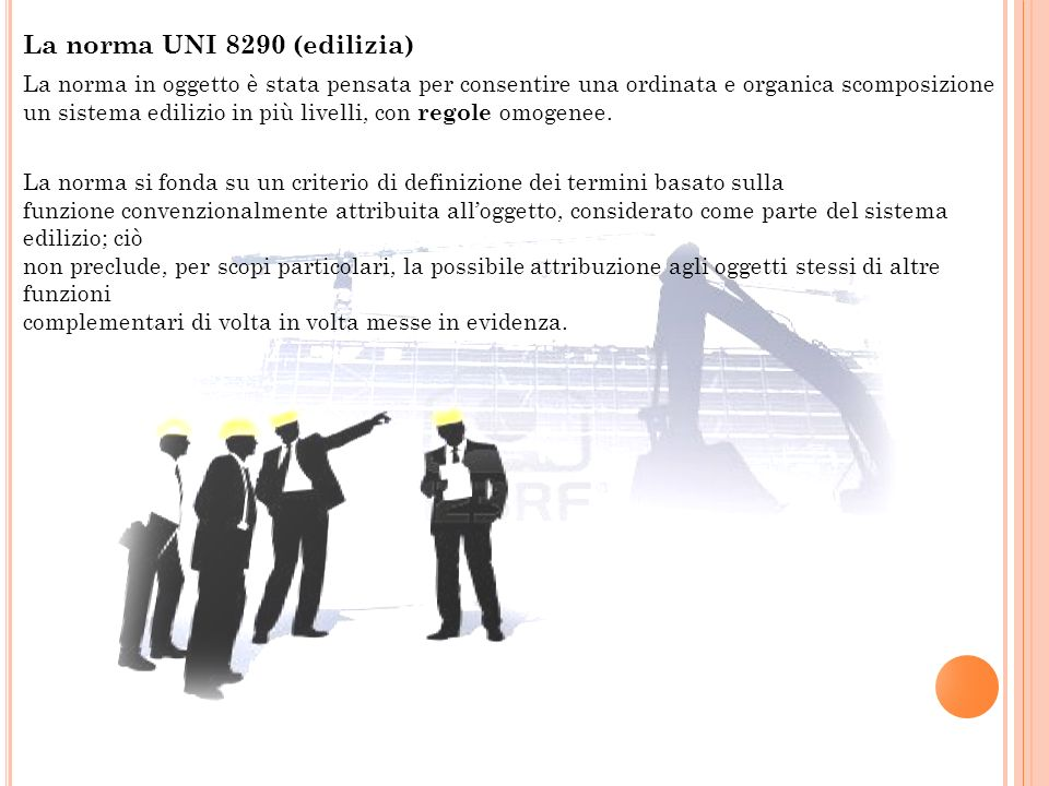 La norma UNI 8290 (edilizia)