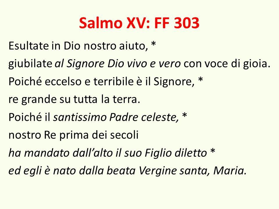 Salmo XV: FF 303