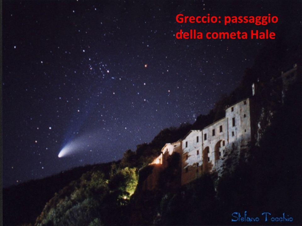 Greccio: passaggio della cometa Hale
