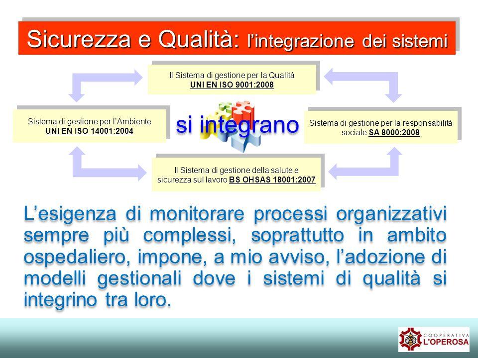 Sicurezza e Qualità: l'integrazione dei sistemi