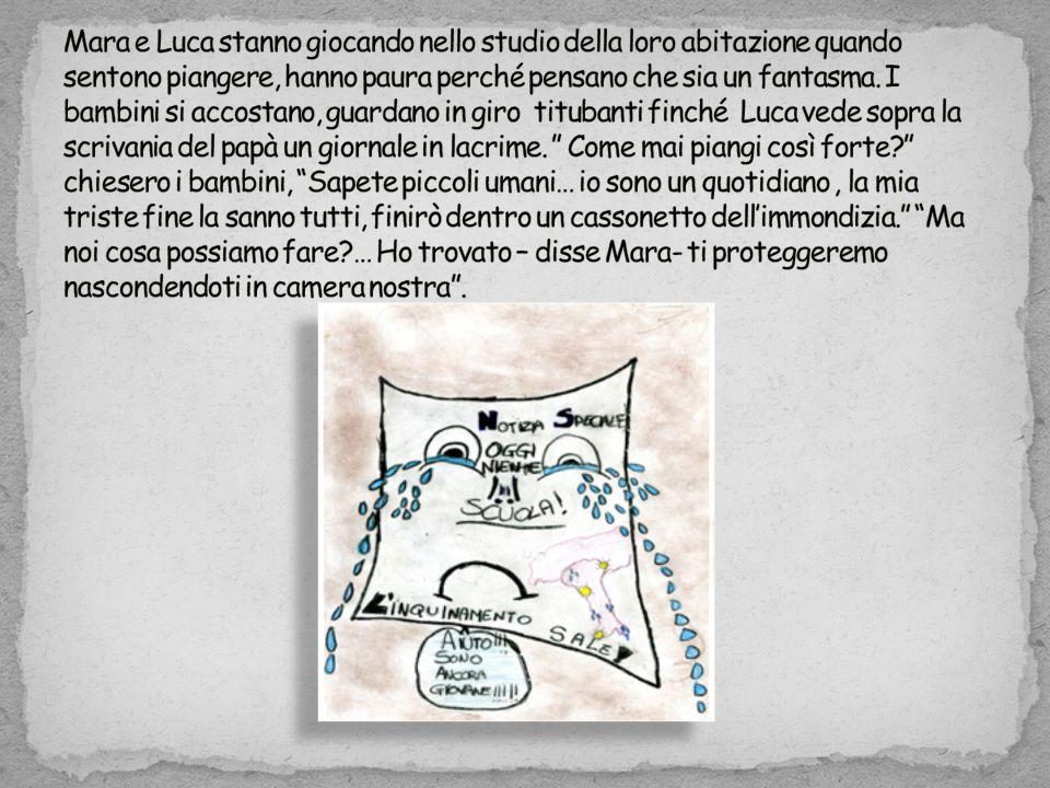 Mara e Luca stanno giocando nello studio della loro abitazione quando sentono piangere, hanno paura perché pensano che sia un fantasma.