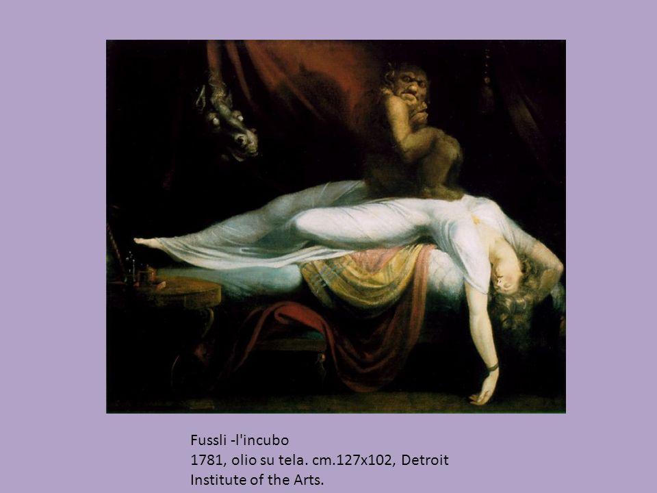 Fussli -l incubo 1781, olio su tela. cm