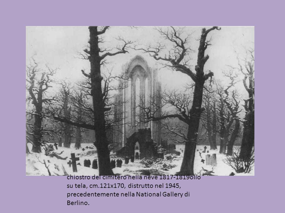 chiostro del cimitero nella neve 1817-1819olio su tela, cm