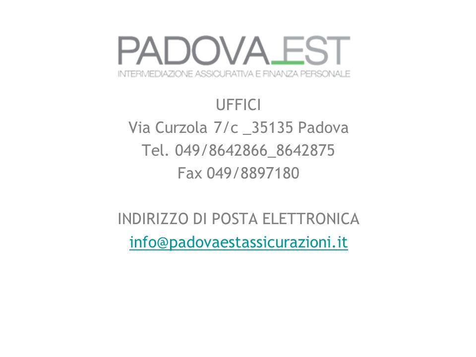 UFFICI Via Curzola 7/c _35135 Padova Tel