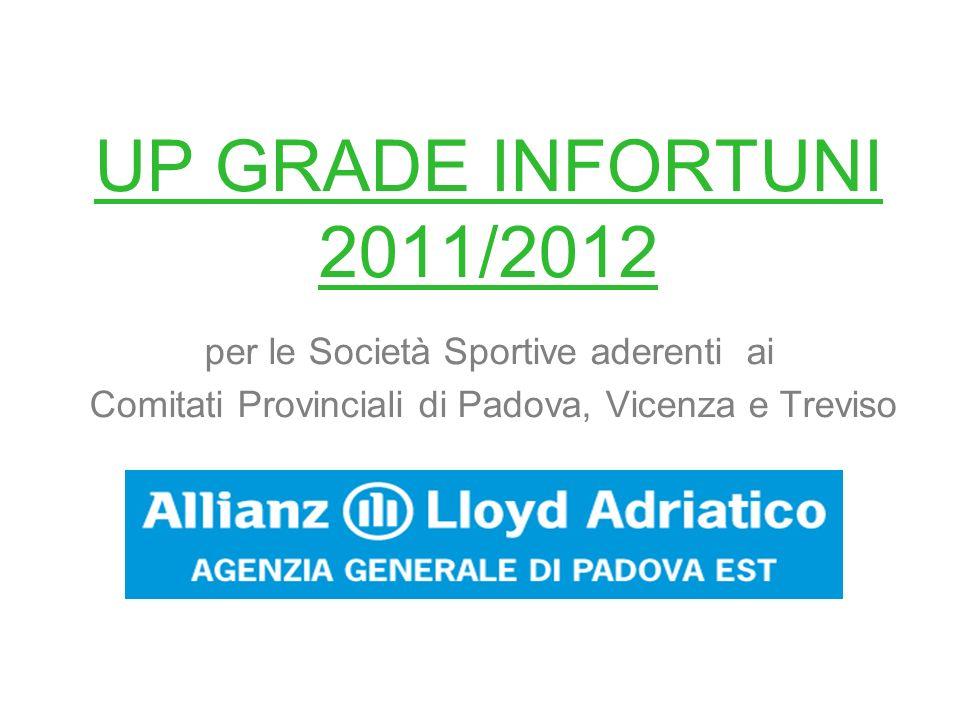 UP GRADE INFORTUNI 2011/2012 per le Società Sportive aderenti ai Comitati Provinciali di Padova, Vicenza e Treviso
