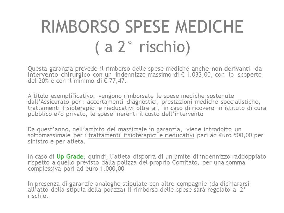 RIMBORSO SPESE MEDICHE ( a 2° rischio)