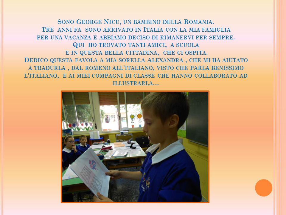 Sono George Nicu, un bambino della Romania