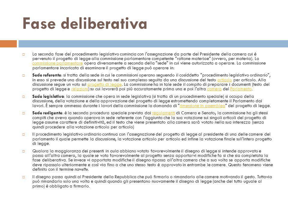 Fase deliberativa