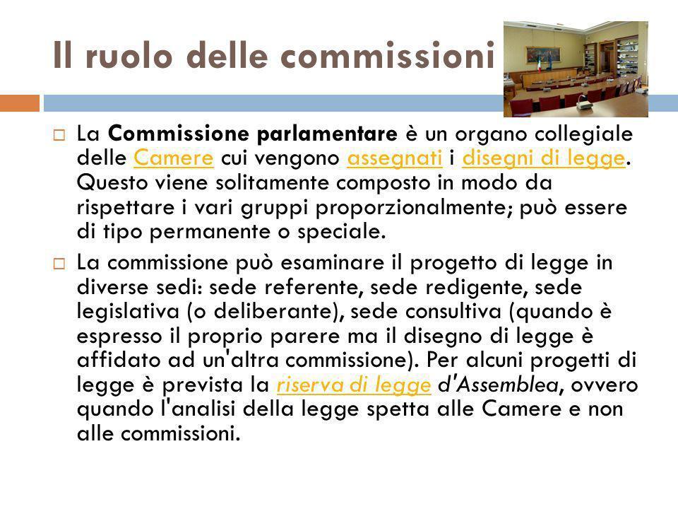 Il ruolo delle commissioni