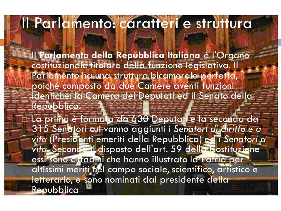 Il parlamento caratteri e struttura ppt scaricare for Parlamento della repubblica