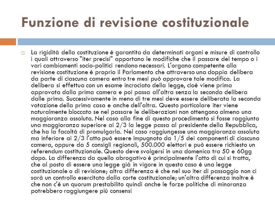 Funzione di revisione costituzionale
