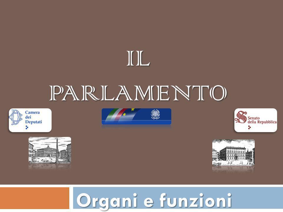 Il Parlamento Organi e funzioni