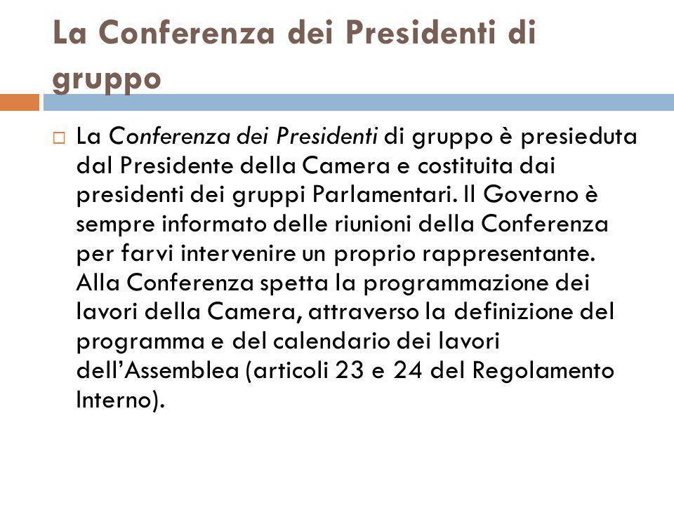 La Conferenza dei Presidenti di gruppo