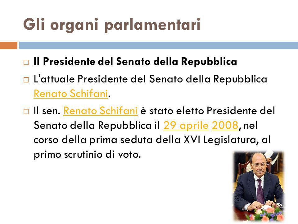 Gli organi parlamentari