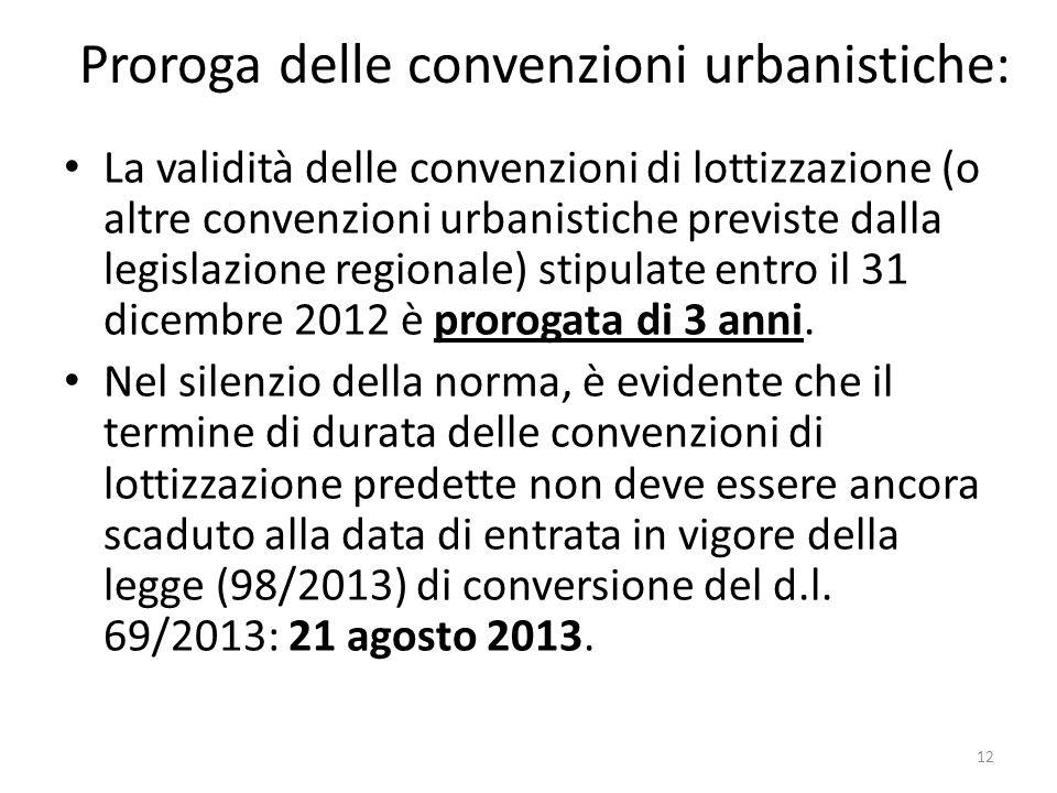 Proroga delle convenzioni urbanistiche: