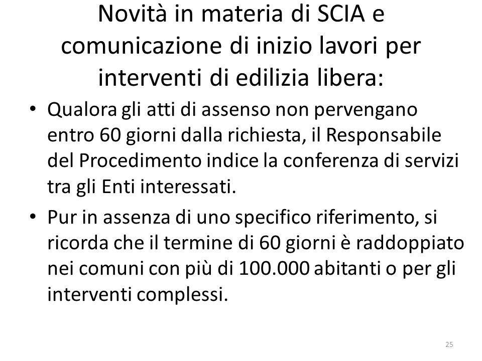 Novità in materia di SCIA e comunicazione di inizio lavori per interventi di edilizia libera: