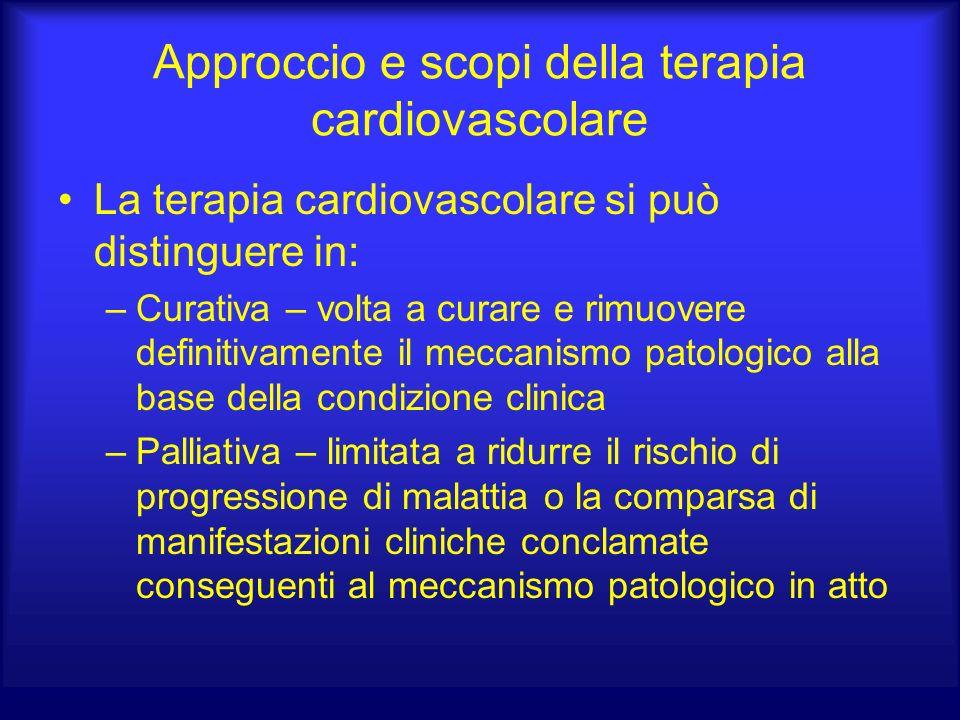 Approccio e scopi della terapia cardiovascolare