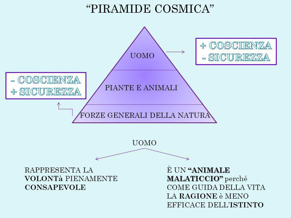 PIRAMIDE COSMICA + COSCIENZA - SICUREZZA - COSCIENZA + SICUREZZA