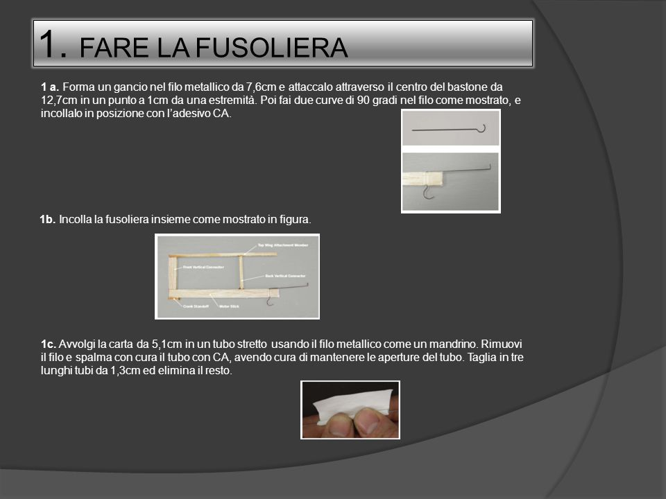 1. FARE LA FUSOLIERA