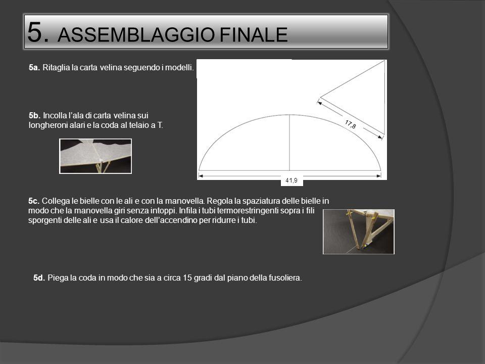 5. ASSEMBLAGGIO FINALE 5a. Ritaglia la carta velina seguendo i modelli.