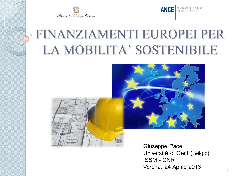 FINANZIAMENTI EUROPEI PER LA MOBILITA' SOSTENIBILE