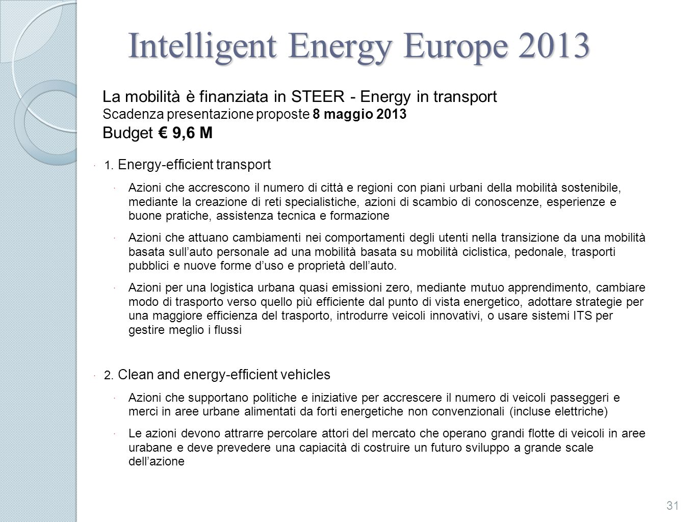 Intelligent Energy Europe 2013