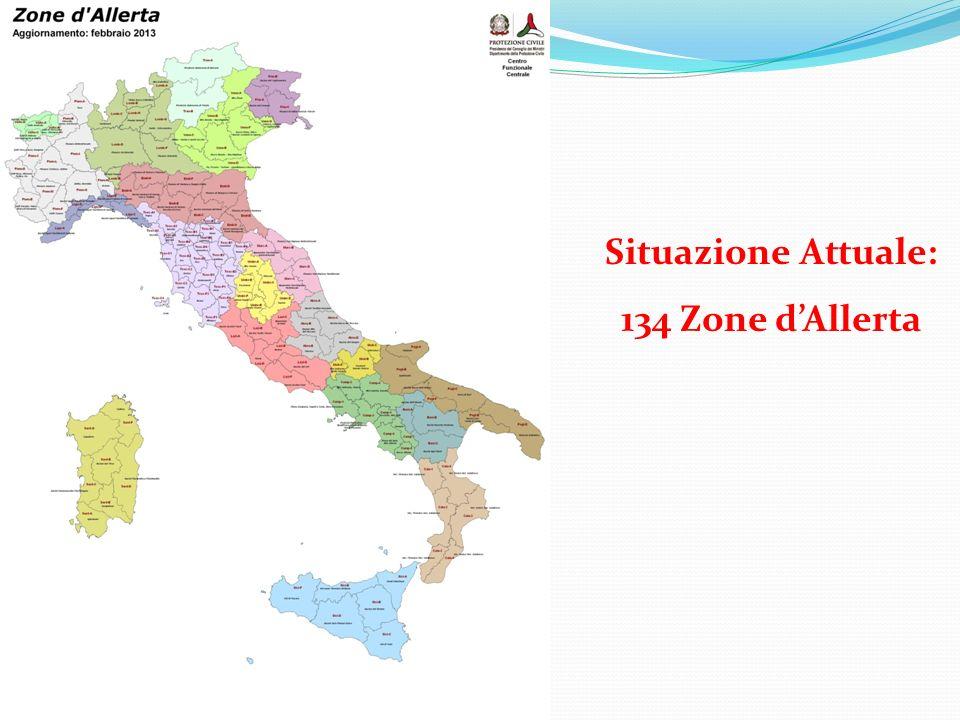 Situazione Attuale: 134 Zone d'Allerta