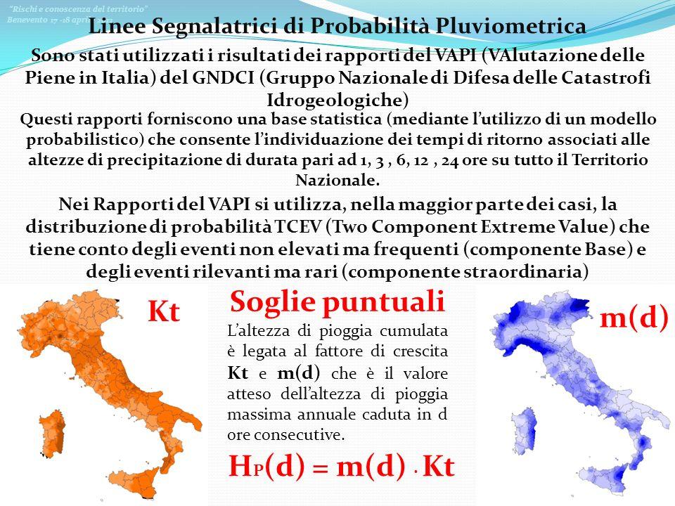 Linee Segnalatrici di Probabilità Pluviometrica